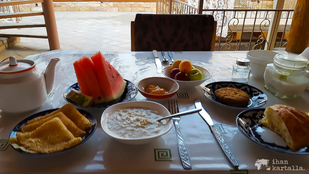 7-7 uzbekistan bukhara breakfast