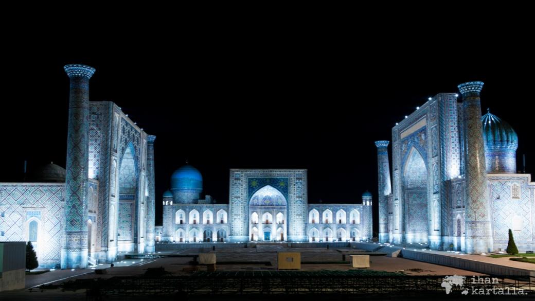 7-7 uzbekistan samarkand registan night